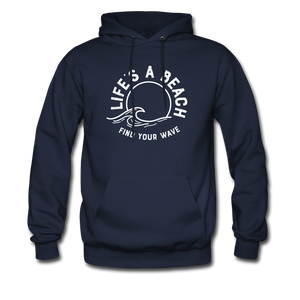 Life's A Beach Find Your Wave - Men's Hoodie - navy