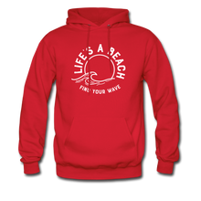 Load image into Gallery viewer, Life's A Beach Find Your Wave - Men's Hoodie - red
