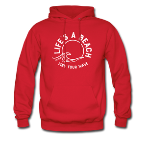 Life's A Beach Find Your Wave - Men's Hoodie - red