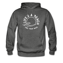 Load image into Gallery viewer, Life's A Beach Find Your Wave - Men's Hoodie - charcoal gray