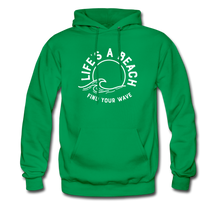 Load image into Gallery viewer, Life's A Beach Find Your Wave - Men's Hoodie - kelly green