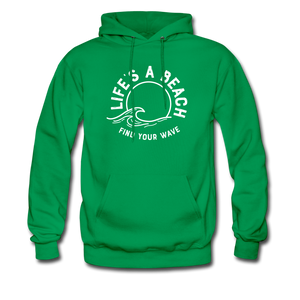Life's A Beach Find Your Wave - Men's Hoodie - kelly green
