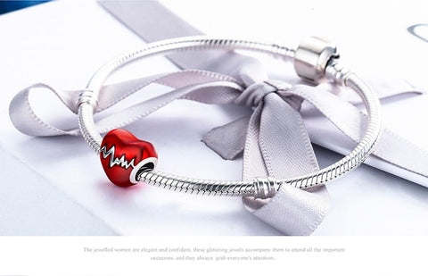 Bracelet Red Heart For Women Gift