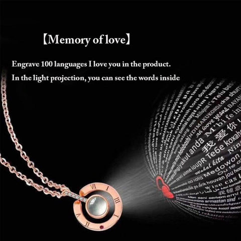 Love Memory Wedding Necklace