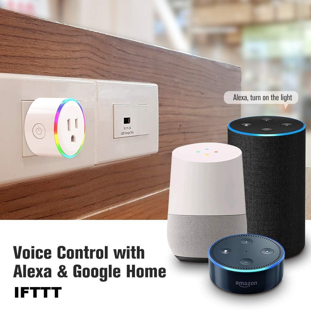 Wifi Smart Socket Works With Google Home Mini Alexa IFTTT