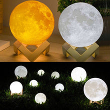 Load image into Gallery viewer, Moon Lamp Earth Lamp Night Light 3D - haddishop