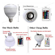 Load image into Gallery viewer, Bluetooth Light Bulb Speaker With Remote Control - haddishop