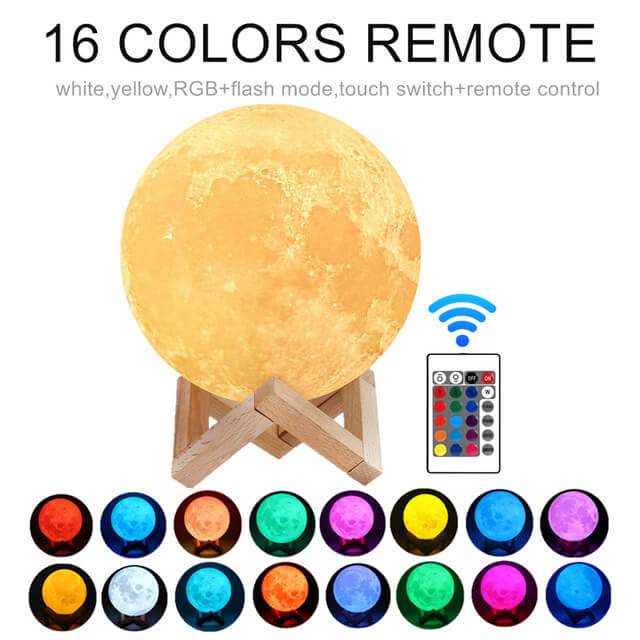 Moon Lamp Night Light 3D