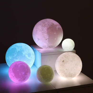 Moon Lamp Earth Lamp Night Light 3D - haddishop