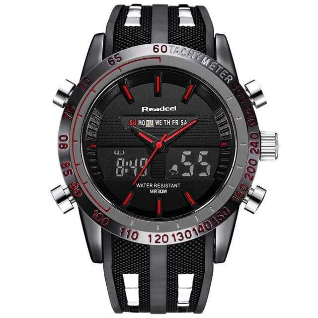Men's Luxury Brand Watch - Waterproof LED Digital Quartz - haddishop