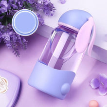 Load image into Gallery viewer, Rabbit Water Bottle Silicone Drinking Glass Water Bottle - haddishop