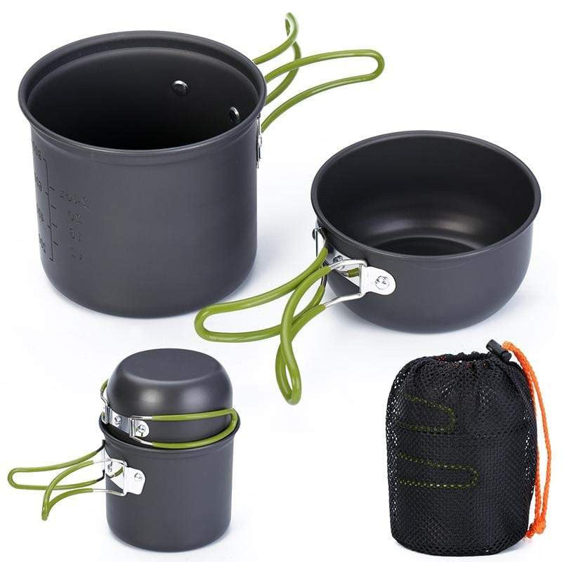 Camping Cookware Set Non-stick Cookware - haddishop