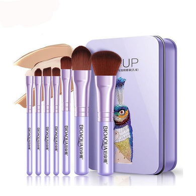 Makeup Brushes Pro Pink Purple Brushes - haddishop