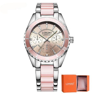 LONGBO Luxury Ceramic Quartz Watch Stainless Steel - haddishop