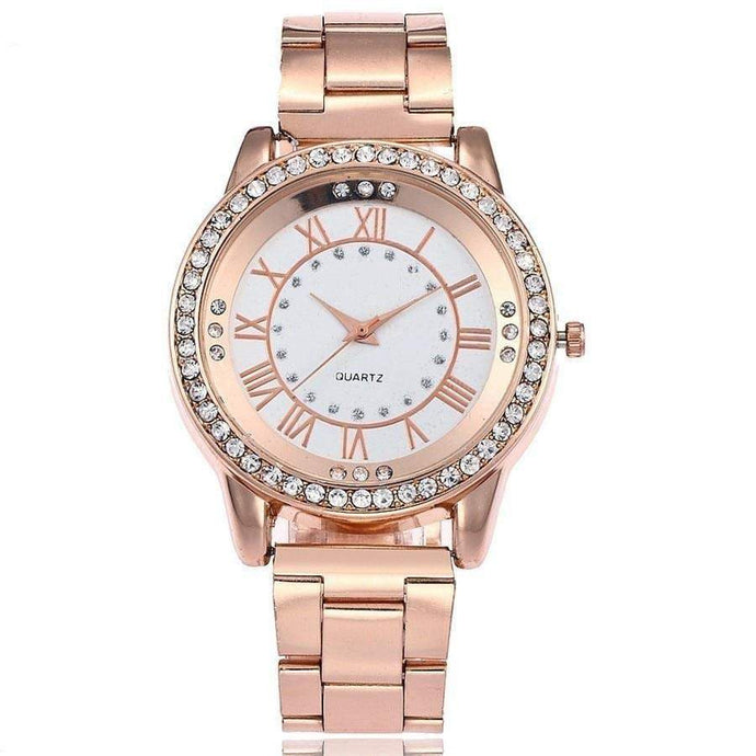 Rose Gold Women's Watch Casual Stainless Steel - haddishop