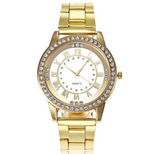 Load image into Gallery viewer, Rose Gold Women's Watch Casual Stainless Steel - haddishop