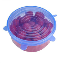 Load image into Gallery viewer, Silicone Stretch Lids Set Bowl Pan Can Cover 6Pcs/lot - haddishop