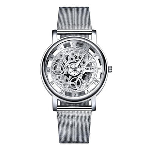 SOXY Skeleton Men's Watch - Steel Mesh Watch - haddishop