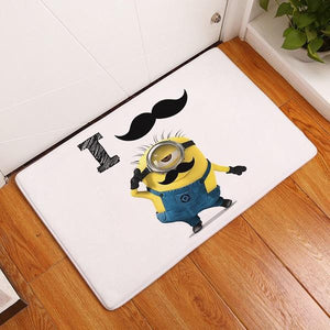 Funny Yellow Minions Doormat - haddishop