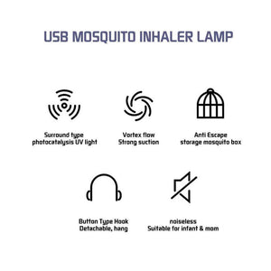 Mosquitoes killer Lamp Physical Silent Pest Repeller - haddishop