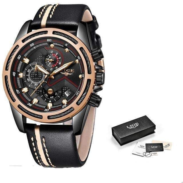 LIGE Men Watch Brand Luxury Fashion - haddishop