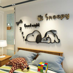 Snoopy Children's Room Decoration 3D Wall Stickers - haddishop