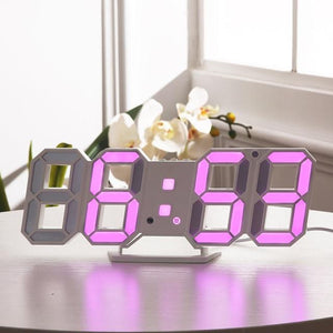 Digital Wall Clock 3D Modern Design Clock - haddishop