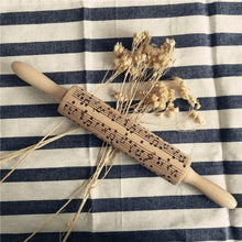 Load image into Gallery viewer, Embossed Rolling Pins Engraved Wood - haddishop