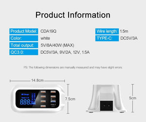 Quick Charge 3.0 Smart USB Type C Led Display - haddishop
