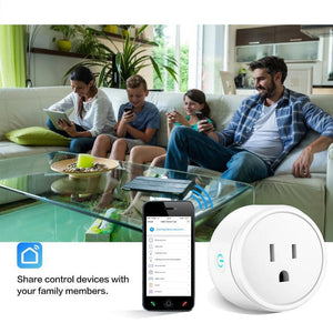WiFi Smart Socket Power Monitor EU US UK Plug - haddishop