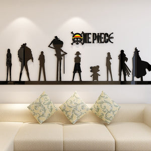 One Piece 3d Wall Sticker Acrylic Living room