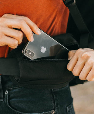 product/ Stash your phone and boarding pass in the hip belt pockets while en route
