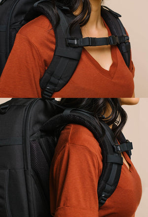 product/ Adjust the chest strap to rest below your collarbone