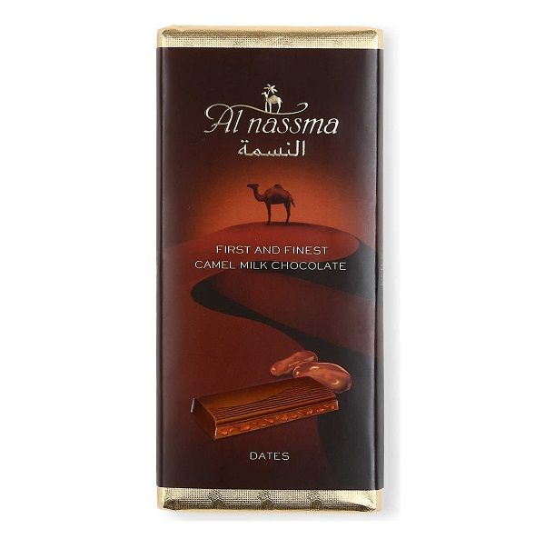 Al Nassma Bar Milk Chocolate Bar with Dates 70g