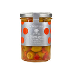 A L'Olivier Green Olives with Pepper 115g.
