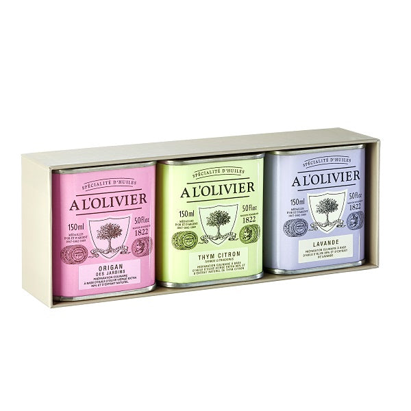 A L'Olivier Gift Box for Tin EVOO 3 x150 ml