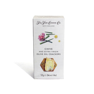 Fine Cheese Co. Chive and Olive Oil Crackers 125g