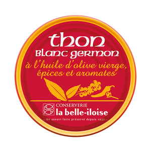 La Belle Iloise Albacore Tuna in Extra Virgin Olive Oil, Herbs and Aromatic Spices 160g