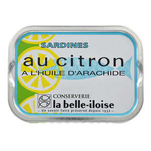 La Belle Iloise Sardines In Peanuts and Lemon Oil 115g