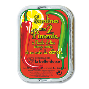 La Belle Iloise Sardines in Extra Virgin Olive Oil, 2 Peppers and Lemon 115g