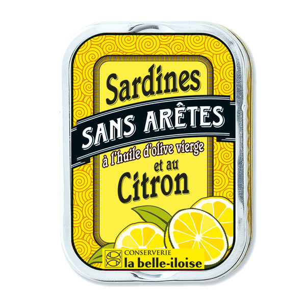 La Belle Iloise Filleted Sardines In Extra Virgin Olive Oil and Lemon 115g