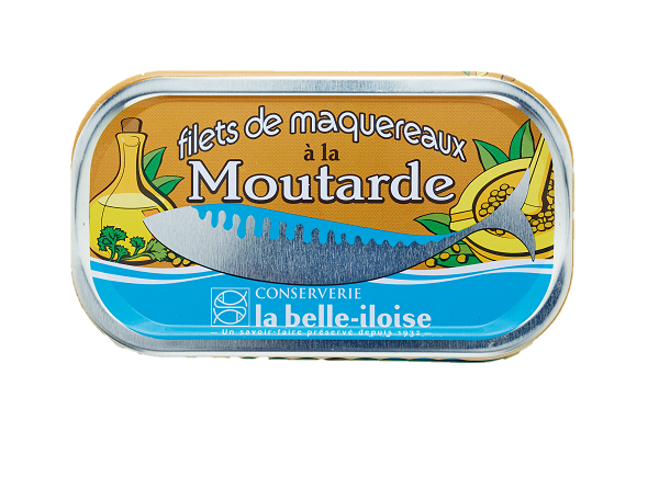 La Belle Iloise Mackerel Fillets with Mustard 112.5g