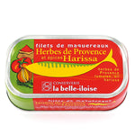 La Belle Iloise Mackerel Fillets with Provencal Herbs and Harissa 112.5g