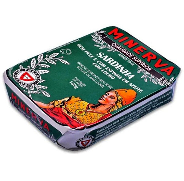 Minerva Skinless and Boneless Sardines in Olive Oil with Lourel 120g