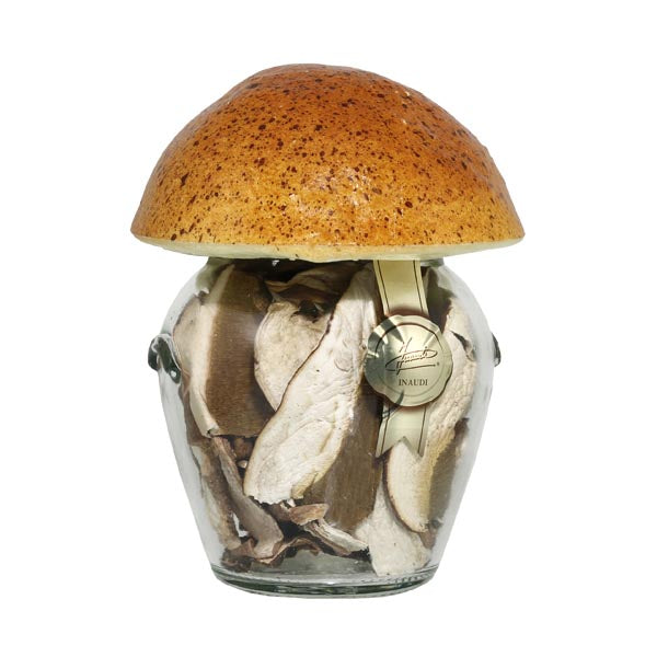 Inaudi Dried Porcini Mushrooms Round Jar 20g