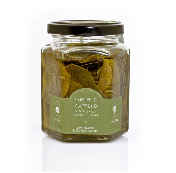 La Nicchia Caper Leaves in Extra Virgin Olive Oil