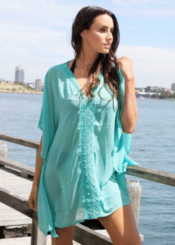 Mint lace kaftan -la sculpte