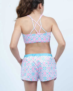 Aztec Run Shorts - Girls Activewear