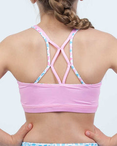Aztec Pink Reversible Kids Crop Top