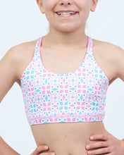 Load image into Gallery viewer, Aztec Pink Reversible Kids Crop Top